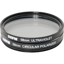 Sunpak 58mm UV and Circular Polarizer Filter Kit