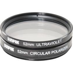 Sunpak 52mm UV and Circular Polarizer Filter Kit