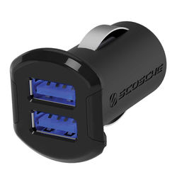 Scosche reVOLT 12W + 12W Dual USB Car Charger for iPod, iPhone and iPad (12 Watts x 2 Ports)
