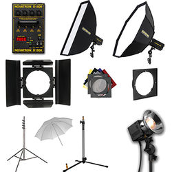 Novatron D1500 4 Fan-Cooled Light Kit with Umbrella and Softbox