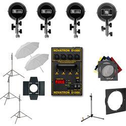 Novatron D1500 Four Head Studio Kit