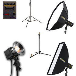 Novatron D1000 Three Fan-Cooled Heads Kit with Two Softboxes