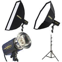 Novatron M150 2-Monolight Kit with 2 Soft Boxes