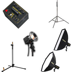 Novatron N2657KIT Head Complete Kit with V600-D Power Pack and 2 Soft Boxes