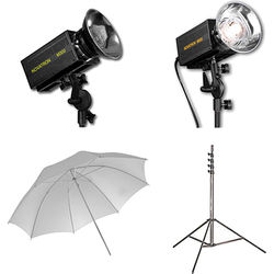 Novatron M300 / M500 2-Monolight Kit with Umbrellas