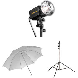 Novatron M500 2-Monolight Kit with Umbrellas