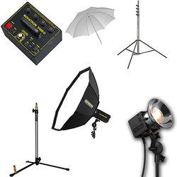 Novatron V400-D 3-Way Fan-Cooled Head Kit with Umbrella & Softbox (115VAC)