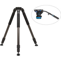 Induro CARBON 8X Video Tripod Kit with Benro S8 Head (100mm Bowl)