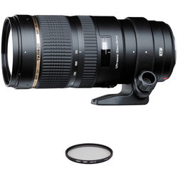 Tamron SP 70-200mm f/2.8 Di VC USD Lens and Filter Kit for Nikon F