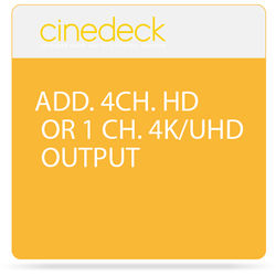 Cinedeck Additional 4 Channel HD or 1 Channel 4K/UHD Output Category 2 Option for ZX Systems
