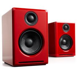 """Audioengine A2+ 2.75"""" Powered Desktop Speakers (Red)"""