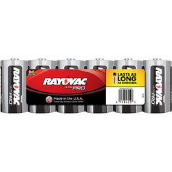 RAYOVAC D Alkaline Battery (Shrink-Wrapped, 6-Pack)