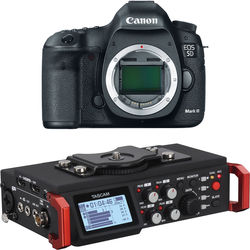 Canon EOS 5D Mark III DSLR Camera Body with 6-Track Field Recorder Kit