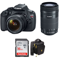 Canon EOS Rebel T5 DSLR Camera Kit with 18-55mm IS II and 55-250mm IS STM Lenses