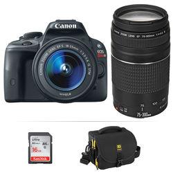 Canon EOS Rebel SL1 DSLR Camera Kit with 18-55mm STM and 75-300mm Lenses