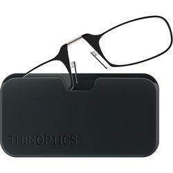 ThinOPTICS Smartphone +1.50 Reading Glasses with Universal Pod (Jet Black)
