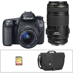 Canon EOS 70D DSLR Camera with 18-55mm and 70-300mm Lenses Kit