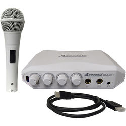 Acesonic USA KM-201 HDMI Karaoke Mixer with Yamaha Reverb Technology