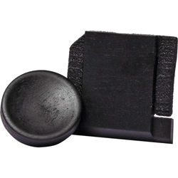 Artisan Obscura Soft Shutter Release & Hot Shoe Cover Set (Small Concave, Threaded, Ebony Wood)