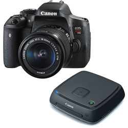 Canon EOS Rebel T6i DSLR Camera with 18-55mm Lens and Connect Station Kit