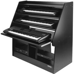 Omnirax Synthrax 3-Tier Sliding Synthesizer Shelf/Rack Cabinet for Up to 3 76-Note Keyboards
