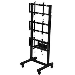 """Peerless-AV Portable Video Wall Cart for 46 to 60"""" Displays (1x3 Configuration)"""