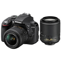 Nikon D3300 DSLR Camera with 18-55mm VR II and 55-200mm VR II Lenses Kit