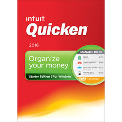 Intuit Quicken Starter Edition 2016 (Boxed)