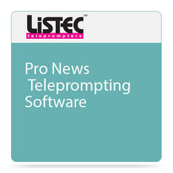 Listec Teleprompters Pro News Teleprompting Software