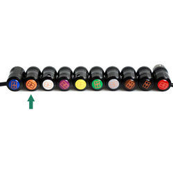 Remote Audio Color Decal for Low-Profile XLR Connector (Orange)