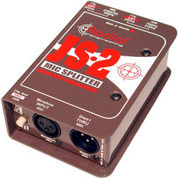Radial Engineering JS-2 - Two-Way Microphone Signal Splitter