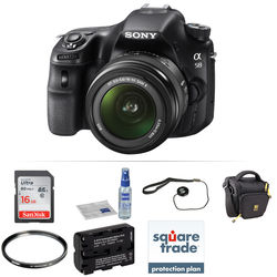 Sony Alpha a58 DSLR Camera with 18-55mm Lens Deluxe Kit