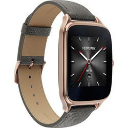 ASUS ZenWatch 2 Android Wear Smartwatch (Rose Gold Casing/Taupe Leather Band)
