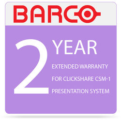 Barco 2-Year Extended Warranty for ClickShare CSM-1 Presentation System