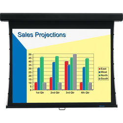 "Stewart COM120VFHG4B325 Luxus Communicator 72 x 96"" Tensioned Manual Screen (Black)"