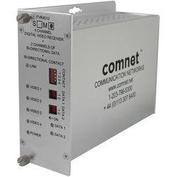 COMNET FVR4012M1 4-Channel Digital Video / 2 Bi-Directional Data / 1 Bi-Directional Contact Closure Receiver for FVT4012M1 Transmitter