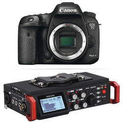 Canon EOS 7D Mark II DSLR Camera Body with 6-Track Field Recorder Kit