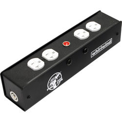 Whirlwind Power Link Edison Box with PowerCon Inlet and Outlet (White)