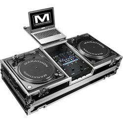 Marathon Battle-Style Coffin for Rane Sixty-Two Mixer & 2 Turntables with Laptop Shelf & Wheels