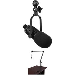 MXL BCD-1 Live Broadcast Dynamic Microphone Podcaster Package
