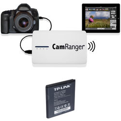 CamRanger CamRanger Wireless Transmitter Kit with Extra Battery for Select Canon and Nikon DSLRs