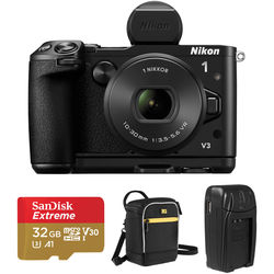Nikon 1 V3 Mirrorless Digital Camera with 10-30mm Lens and Accessories Kit