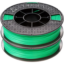 Afinia 1.75mm ABS Premium Filament 2-Pack for H-Series 3D Printers (2 x 500g, Green)
