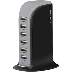 Aduro 6-Port USB Charger (Black/Gray)