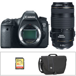 Canon EOS 6D DSLR Camera Kit with EF 70-300mm f/4-5.6 IS USM Lens