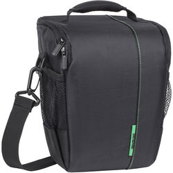 RIVACASE SLR Case for DSLR Camera Body with Attached Lens, One Additional Lens, and Accessories (Black)