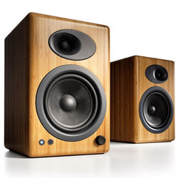 "Audioengine A5+ 5"" Active 2-Way Speakers (Pair, Bamboo)"