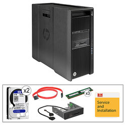 HP Z840 Series L0P09UT Turnkey Workstation with 32GB RAM, 2 x 5TB HDDs, and Blu-ray Drive