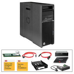 HP Z640 F1M59UT Turnkey Workstation with 32GB RAM, 512GB SSD, Blu-ray Drive, and 15-in-1 Media Card Reader,