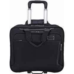 a90f08314c76 ECO STYLE Tech Exec Rolling Case with iPad Tablet Pocket for Up to 15.6